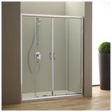 Porta nicchia doccia 180 cm modello Giada Cristallo trasparente