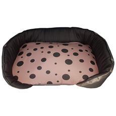 Cuccia / Panchetta Per Animali Con Sfondo Rosa E Pois, Un Singolo Pezzo (74x50x14)
