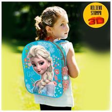 Zaino Zainetto Frozen Elsa Con Rilievo 3d Disney Bambine Scuola Asilo Elementari