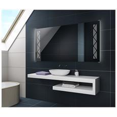 Controluce Led Specchio 60x50cm Su Misura Illuminazione Sala Da Bagno L66