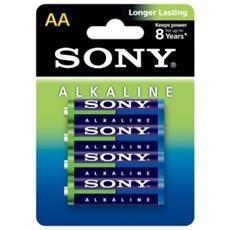 Alkaline, 4 x AA, Alcalino, Cilindrico, AA, Blu, Verde, Bianco