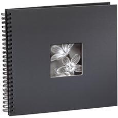 Fine Art a spirale grigio 36x32 50 pagine nere 94874
