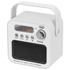 Radio Portatile Mp3 Bluetooth Dr 750 Bt Poker Bianco