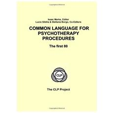 Common language for psychotherapy procedures. The first 80