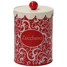 Barattolo Zucchero Cm12 H18 Rosso-mademoiselle Linea Dolce Casa