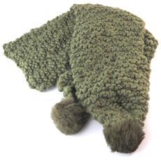 sciarpa a maglia '' kaki - 160x95 cm - [ n7375]