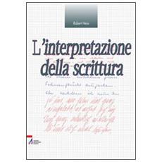 L'interpretazione della scrittura