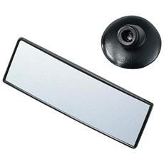 Specchio 140x45 Mm Retrovisore Interno Int Auto Panoramico Supplementare Con Ventosa Lo Snodo A Sfera Permette Una Regolazione Ottimale Per Vedere Tutto Quanto È A Lato Senza Togliere Lo Sguardo Dalla Strada