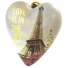 oggetto decorativo 'art hearts' multicolore beige (l'amore è nell'aria) - 10x85x35 cm - [ p1144]