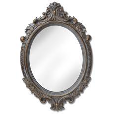 Through The Looking Glass Specchio Da Parete Con Cornice Barocca (74 X 48 X 3,5 Cm) (marrone)