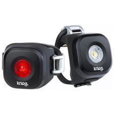 Set Luce Posteriore e Anteriore a LED per Bici Colore Nero