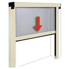 Zanzariera in alluminio a molla per porte e finestre 100x170 bianco
