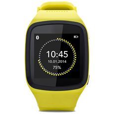 """Smartwatch ZeSplash Resistente all'acqua Display 1.54"""" Bluetooth con Funzione Contapassi Giallo - Europa"""