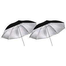 Ombrello Argento / nero 110cm Set 2 Pz.