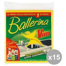 Set 15 Ballerina Panno Multiuso X 3 Pezzi Attrezzi Pulizie