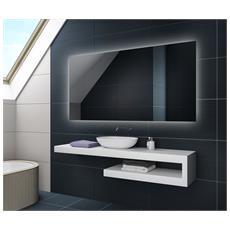 Controluce Led Specchio 80x80cm Su Misura Illuminazione Sala Da Bagno L58