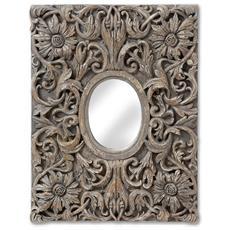 Specchio Decorativo Da Parete Effetto Anticato (taglia Unica) (marrone)