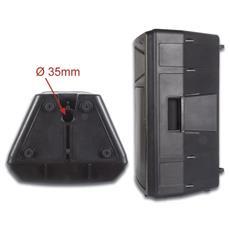 """2-WAY professional 12"""" ABS speaker with amplifier, Pavimento, A muro / a soffitto, Incasso, Cablato, 45 - 18000 Hz, Nero, Metallo, Plastica"""