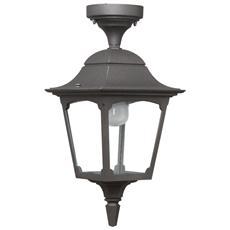 Maiori Ma309 Tr Nrm Made In Italy Lanterna A Soffitto Da Esterno Di Colore Nero / rame In Alluminio Vetro Trasparente