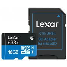 MicroSDHC da 16 GB class 10 + adattatore