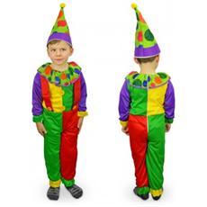 537301 Costume Carnevale Travestimento Clown Bambino Bambina Da 3 A 12 Anni - 3/5 Anni