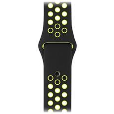 Cinturino Nike Sport nero / Volt (42 mm) - S / M e M / L