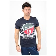 T-shirt Tee Bollo 19 Blu S