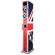 Amplificato Colonna Multimediale 100w Fm / Usb / Sd / Bt Bandiera Del Regno Unito