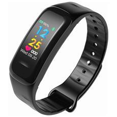 Smart Band C18 Activity Tracker Fitness Cardiofrequenzimetro Pedometro Calorie Notifiche Nero