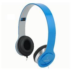 ICC SH-LBL - Cuffie Stereo Smile con Microfono Blu
