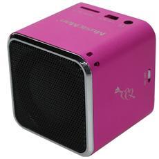 Mini Speaker Audio Portatile MusicMan Potenza Totale 2W USB Colore Roso