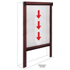 Zanzariera in alluminio a molla per porte e finestre 100x250 marrone