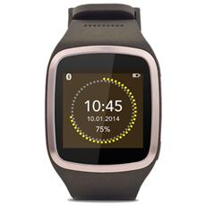 Smartwatch ZeSplash Impermeabile connessione Bluetooth funzione Contapassi e Calorie + Microfono incorporato - Marrone
