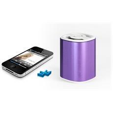 Speaker Audio Portatile MusicMan Grenade BT-X4 Potenza Totale 3W Bluetooth Colore Viola
