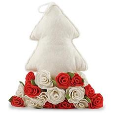 Cuscino Albero Bianco Rose Rossebia