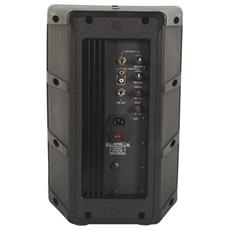 """2-WAY professional 8"""" ABS speaker with amplifier, Pavimento, A muro / a soffitto, Incasso, 2,54 cm (1"""") , 80W, 45 - 18000 Hz, 8 Ohm"""