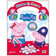 Impara l'inglese con Peppa. Colori e numeri. Sticker e color. Con adesivi