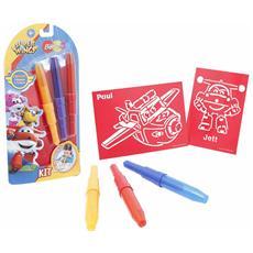 Blo Pens Super Wings Kit 3 Penne e 4 Stencil