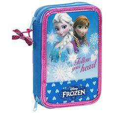 Astuccio Porta Penne Scuola Frozen Regina Delle Nevi 34 Pcs. 13x20 Cm