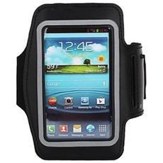 Custodia Fascia Da Braccio Sport Armband Nero X Samsung S3 I9300 S4 I9500 I9505
