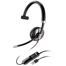 Cuffia Monoaurale con Microfono Nero Filo 100 - 8000 Hz 87505-02