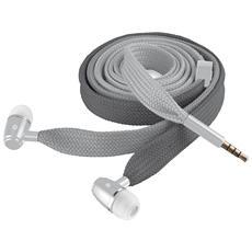Auricolari Lace con Cavo a stringa + Microfono per Smartphone - Grigio