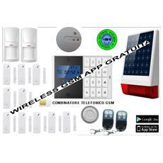 Antifurto Allarme Casa Kit Gsm Wireless Senza Fili Con Sirena Esterna Wireless Ad Energia Solare Controllabile Da Cellulare Con Apposita App - Menu E Manuale In Italiano