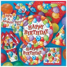 Tovaglioli Happy Birthday Con Palloncini