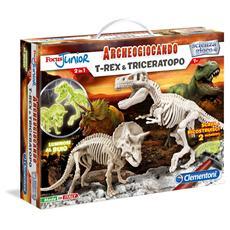Focus Junior - Archeogiocando - T-Rex E Triceratopo
