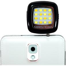 I-SMART-LIGHT - Luce Flash da 3.5'' a 16 LED per Smartphone Nero