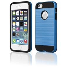 Cover Motomo In Gomma E Plastica Per Iphone 5 & 5s Alta Qualità Colore Blue E Nero