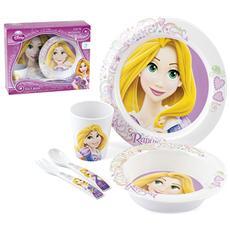 Confezione 5 Pezzi Bimbo Melamina Disney Rapunzel Mondo Baby
