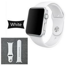 Cinturino Bracciale Bianco Sostitutivo In Silicone Gomma Series 2/1 Sport Band Per Orologio Iwatch Watch 42mm