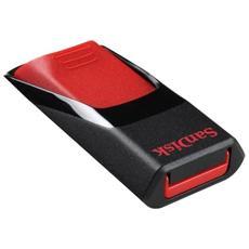 Chiavetta USB Cruzer Edge, 64 GB, USB 2.0, 128-bit AES, Slide, Nero, Rosso, SanDisk SecureAccess